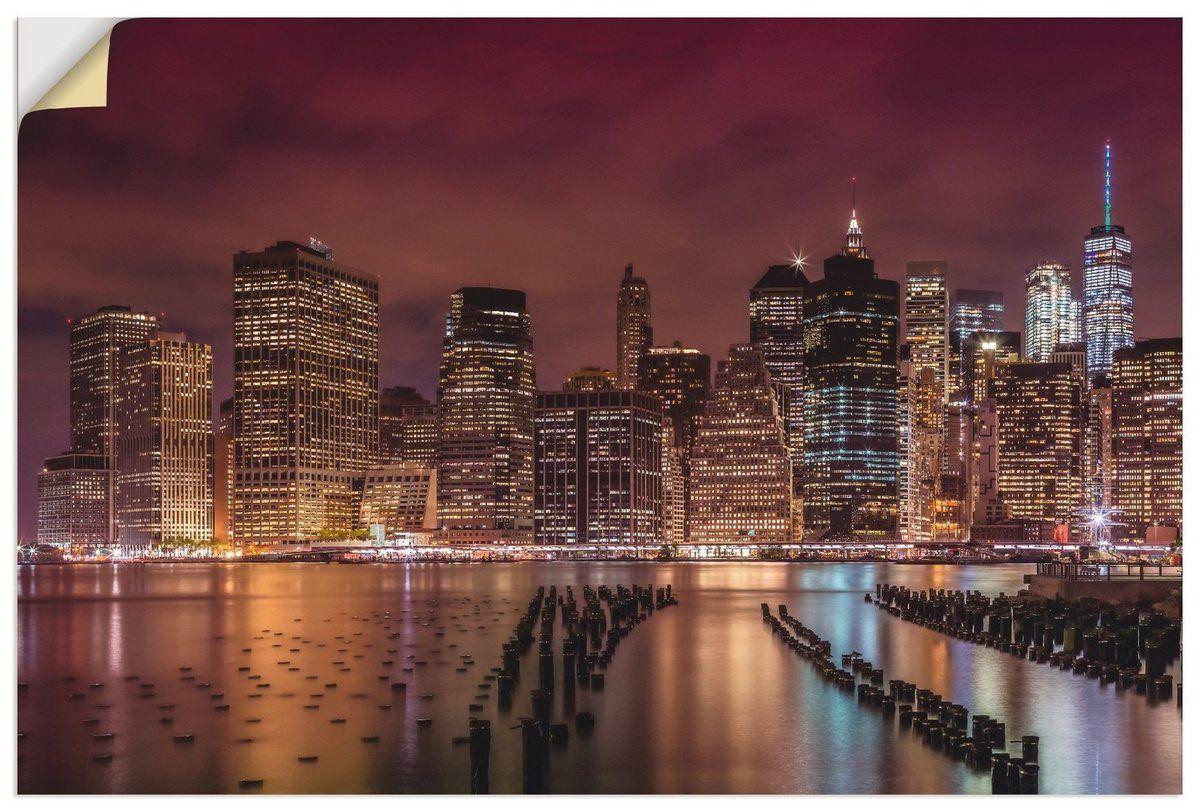 Wandfolie »Melanie Viola: NEW YORK CITY Impression bei Nacht«
