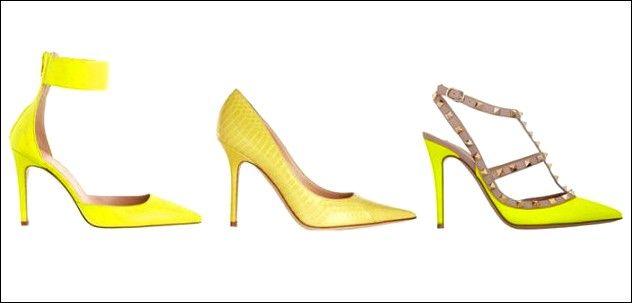 Promi Mode: gelbe Schuhe | Promi Stil | Gelbe schuhe, Schuhe