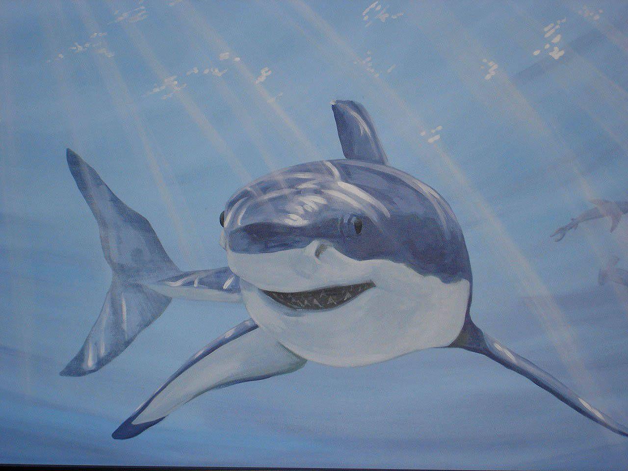 Shark Mural - Detail Image