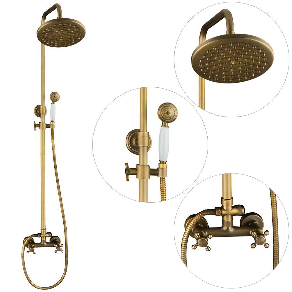 Komplett Duschset Komplett Dusche Armatur Antik Messing Massiv Sanlingo Armaturen Dusche Retro Duschset Dusche Messing