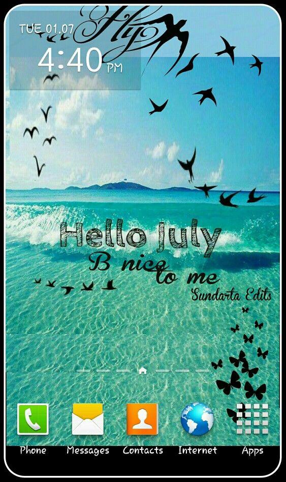 Superbe Hello July #note3 #wallpaper #feeling