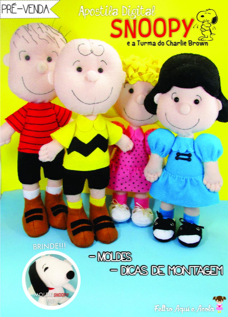 {Pré- venda Apostila Digital Snoopy e a turma do Charlie Brown} <br> <br>Apostila Digital de moldes <br> <br>Preço da apostila pré venda até o dia 14/01: R$ 26,00 <br>Preço da Apostila após o dia 14/01: R$ 30,00 <br> <br>Conteúdo: <br>-Moldes digitalizados dos personagens com tamanho natural (30cm); <br>-Passo a passo descritivos (sem fotos); <br>-Fotos reais dos personagens. <br> <br>Para realizar a compra: <br>Depósito bancário: <br>CAIXA ECONÔMICA (Poupança) <br>Agência: 3230…