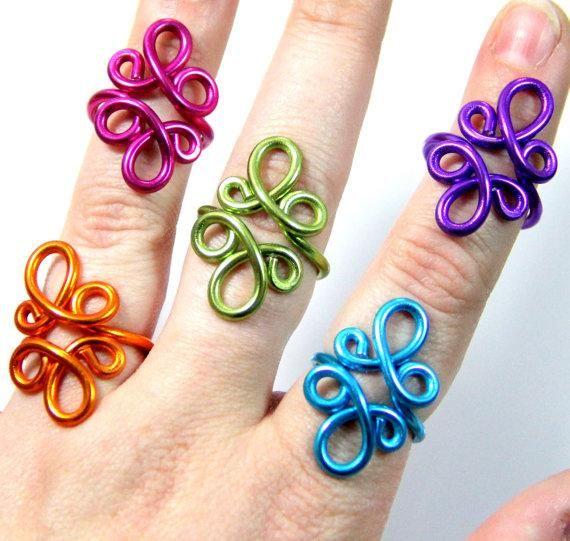 Loop De Loop Adjustable Ring | DIY jewelry | Pinterest | Schmuck ...