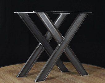 industrielle x form metall tisch schmiedeeisen tischbeine industrielle tischgestell 2er set. Black Bedroom Furniture Sets. Home Design Ideas