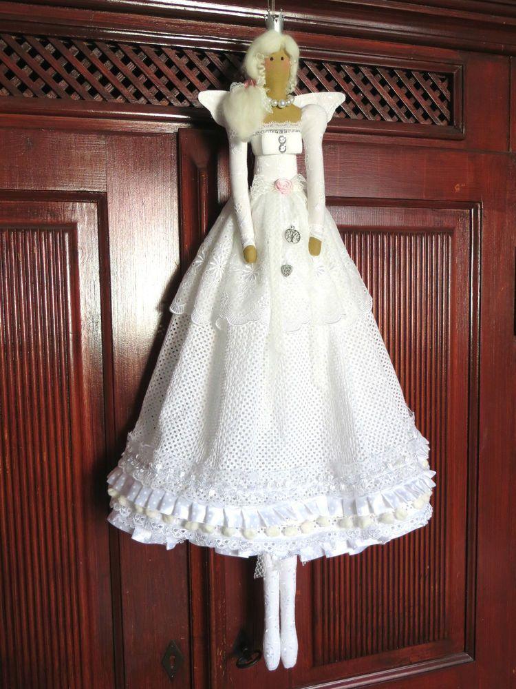 xxl engel spitze wei stoff shabby vintage nostalgie nach ma tilda vorlage tilda dolls. Black Bedroom Furniture Sets. Home Design Ideas
