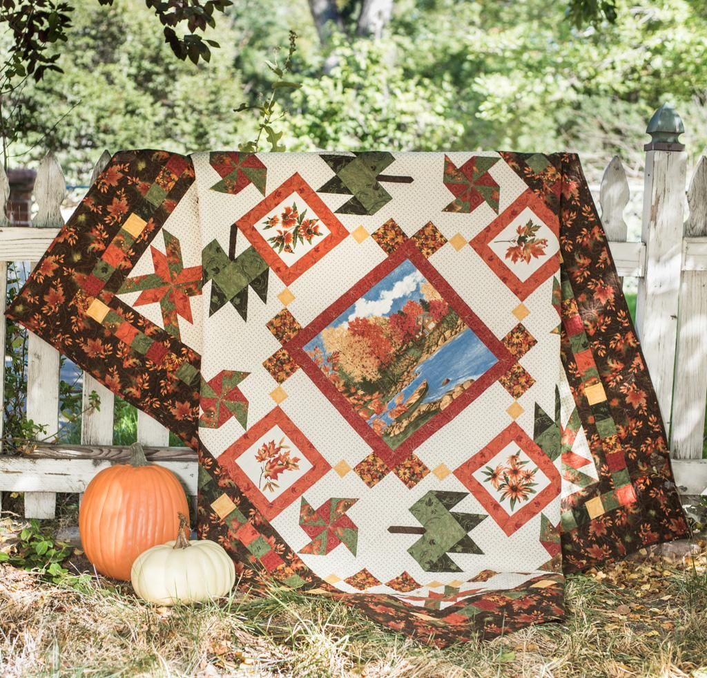Maple Island Quilt Kit | Panel quilts, Patterns and Cross stitch : quilt panel kits - Adamdwight.com