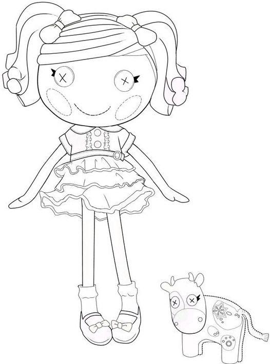 Lalaloopsy coloring page free | Dibujo | Pinterest | Planificación ...