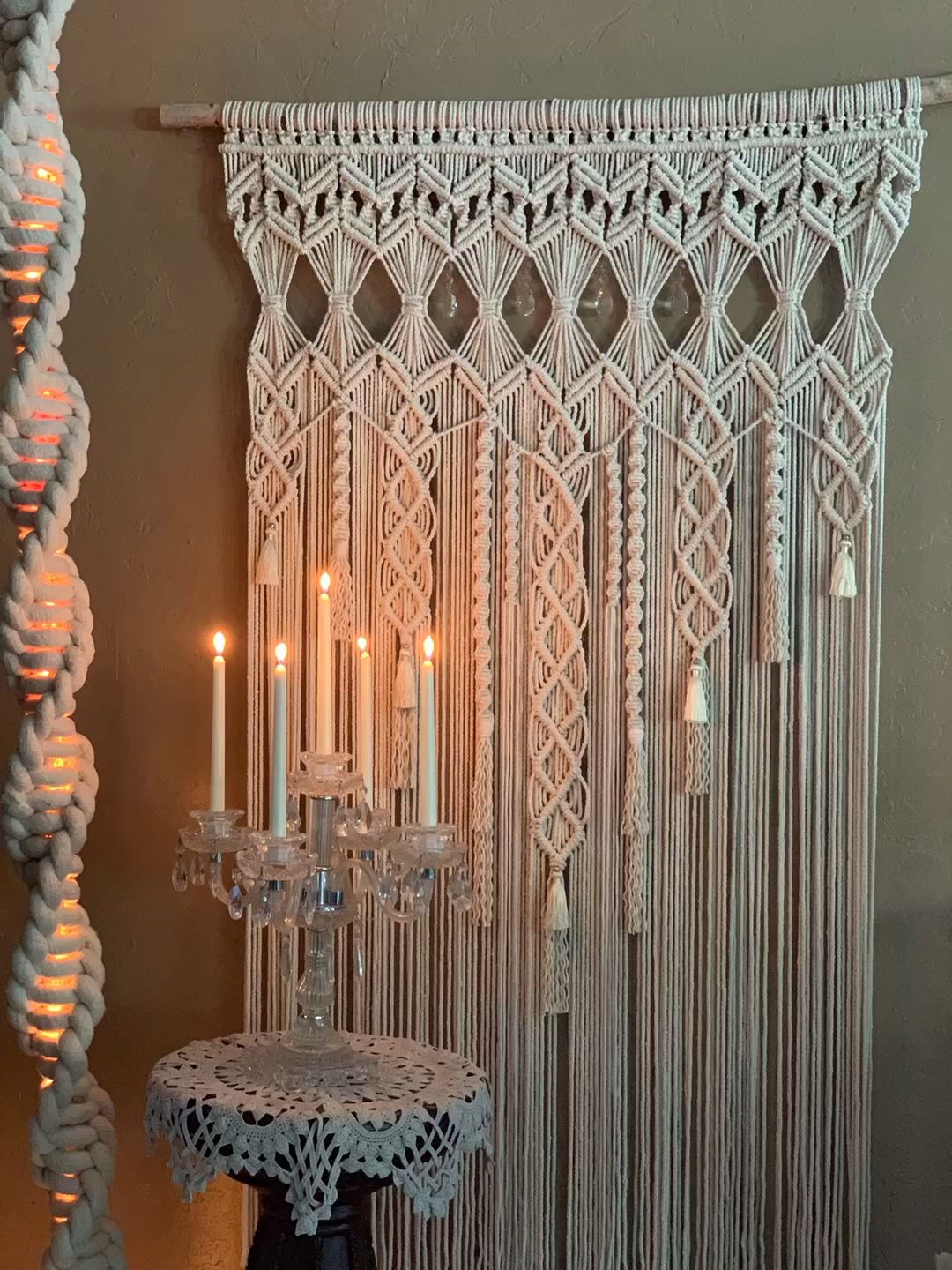 Making of a macrame backdrop  #macrame