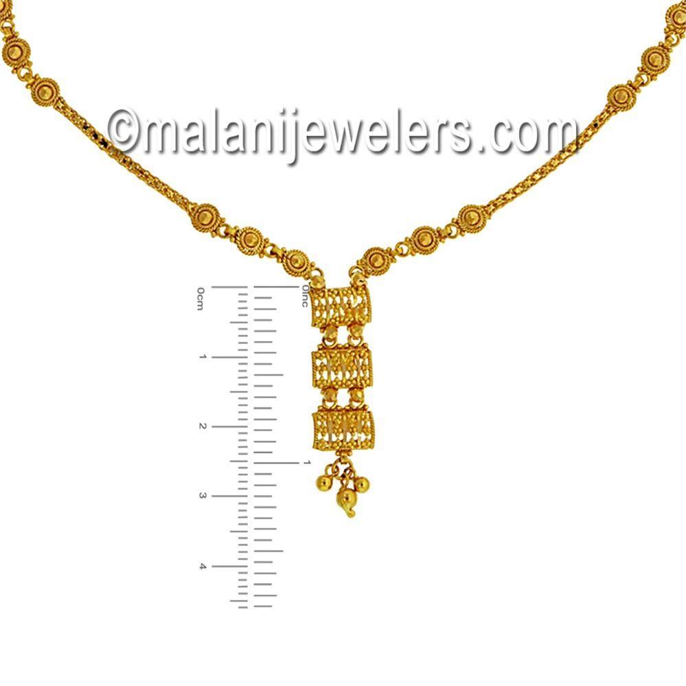 karat gold graceful necklace set zevar pinterest gold
