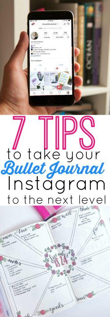 7 Tipps zum Erstellen eines Instagram-Kontos für das Viral Bullet Journal