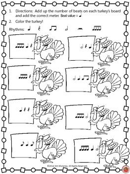Thanksgiving Music Activities: Time Signatures with a