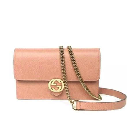 1a80f6da8de Get the trendiest Cross Body Bag of the season! The Gucci Icon Chain Wallet Gg  Pink Leather Cross Body Bag is a top 10 member favorite on Tradesy.
