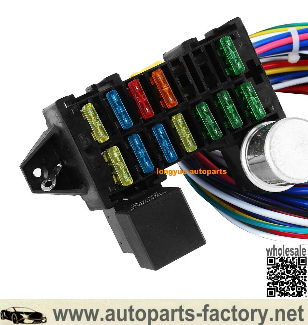 12 Circuit Hot Rod Universal Wiring Harness Muscle Car Street Rod