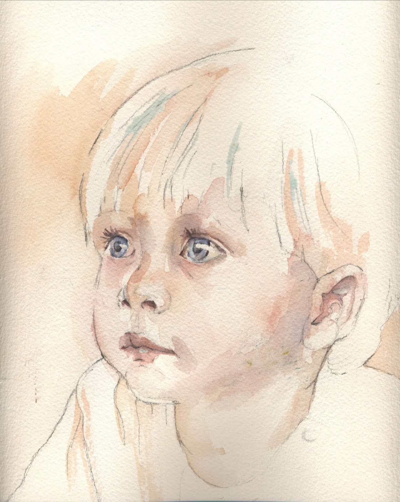 We Were All Beginners Once Watercolor Portrait Painting