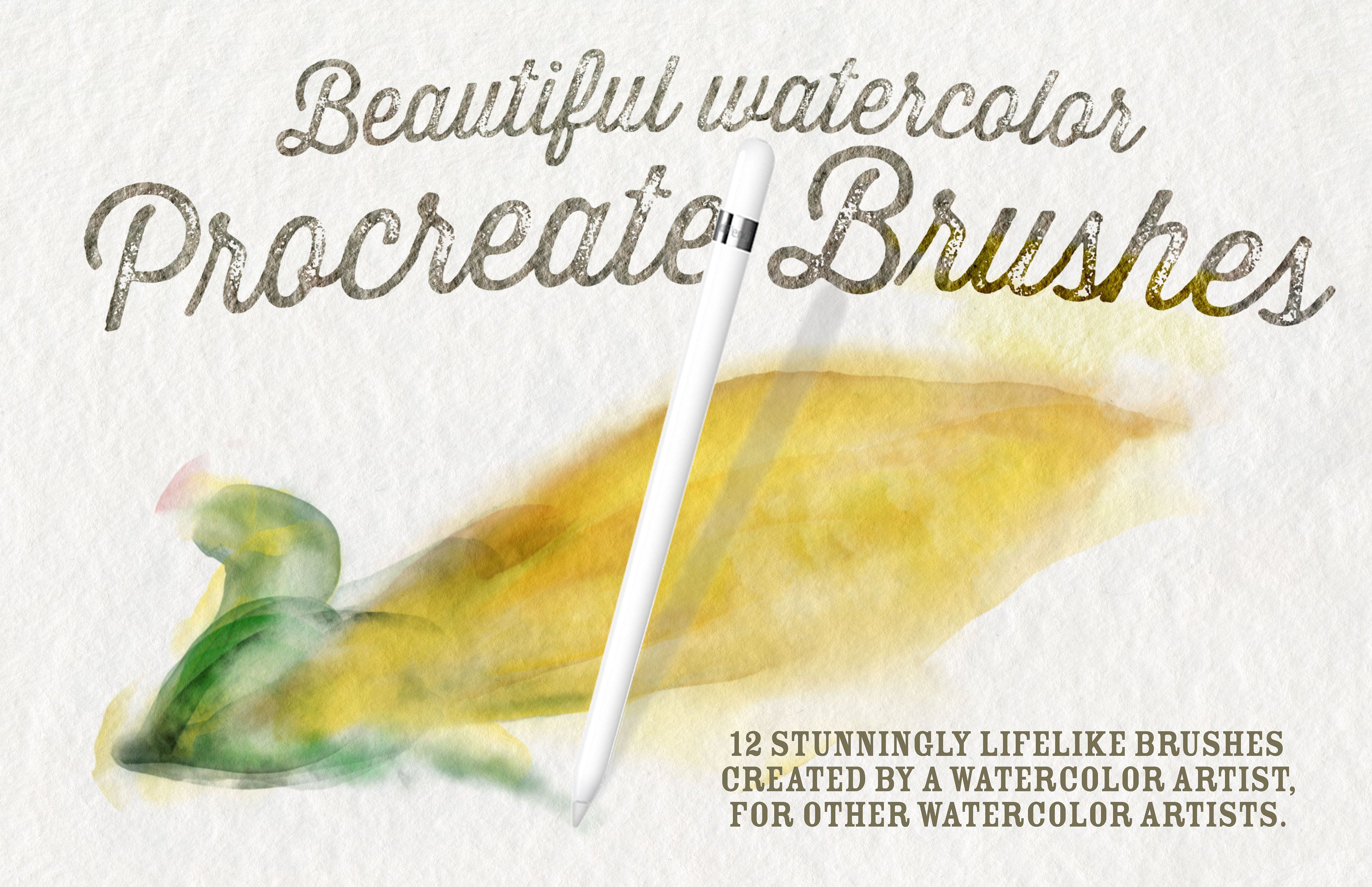 Best Watercolor Brushes Procreate By Oleptic Studios On