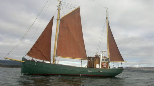 danish ketch, converted trawler  one of the adventure plans