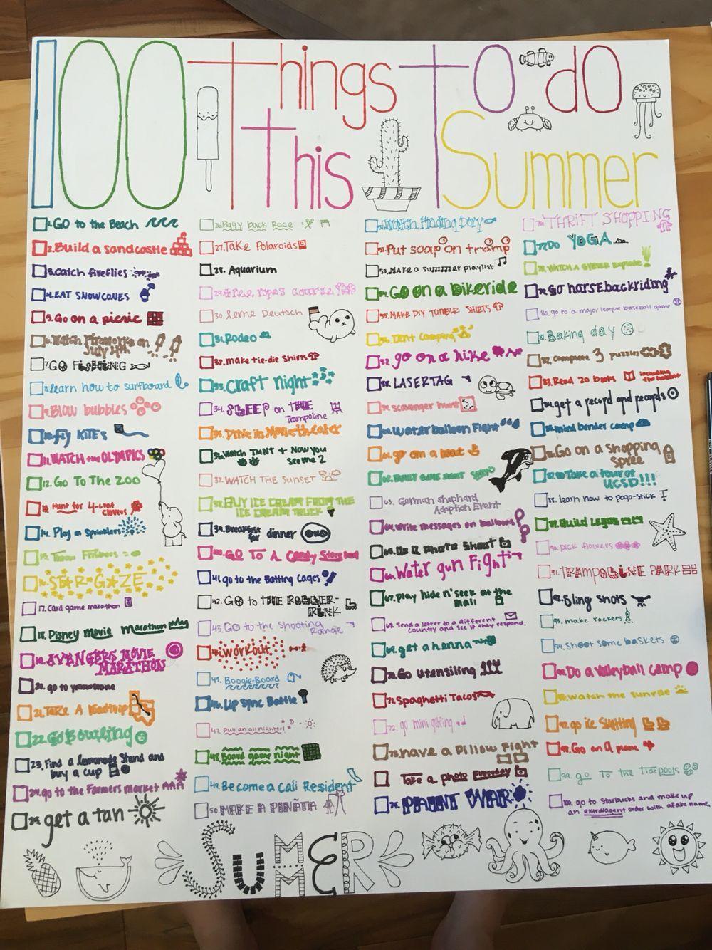 Photo of 100 ting å gjøre i sommer !! 100 ting å gjøre i sommer !! Du er i ri …