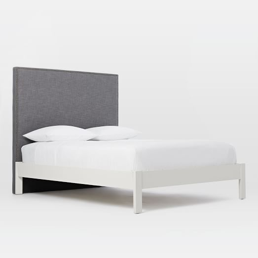 Narrow Leg Wood Bed Frame White Simple Bed Frame Wooden Bed Frames White Bed Frame