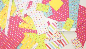 Recortes de papel scrapbook