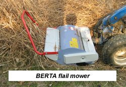 Flail mower for the BCS walking tractor | Machinery for the