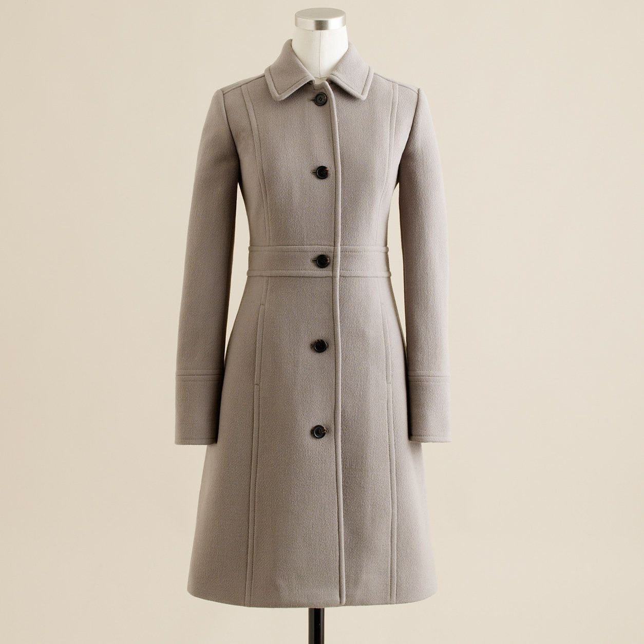 J Crew Womens Tall Double Cloth Lady Day Coat With Thinsulate