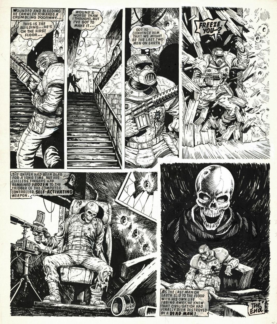 PAGE 3 THE LAST MAN, from 2000 A.D.