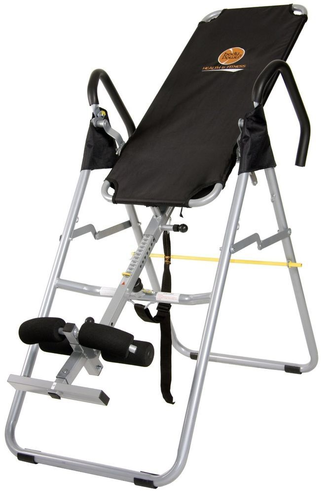 spinal decompression chair leather swivel inversion therapy table back pain swing traction 250lbs bodymax