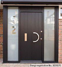 front door modern design in dark brown loving especially the house number etched into - Front Door Designs For Homes