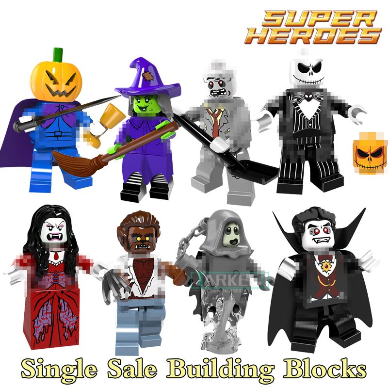 /& Dracula Halloween Film minifigura Building Blocks Giocattoli mattoni Figura Figura