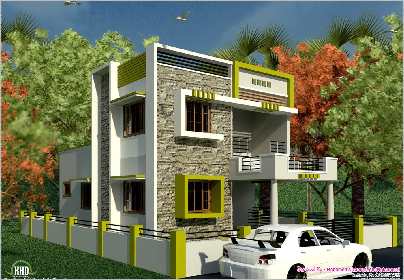 South Indian Style New Modern 1460 Sq Feet House Design Kerala House Outer Design Small House Exteriors House Design Pictures
