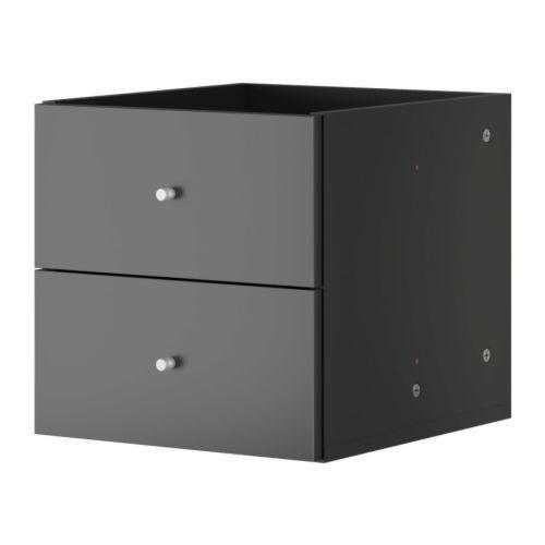 expedit bloc 2 tiroirs ikea structure avec rev tement de finition l 39 arri re permettant de l. Black Bedroom Furniture Sets. Home Design Ideas