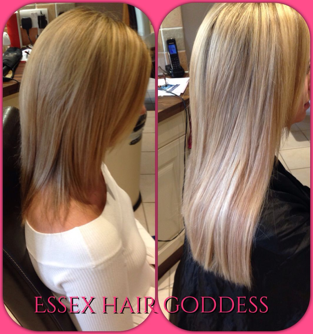 No Clips No Glue No Damage Hair Extensions Fitted With An Invisible