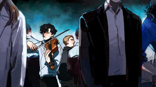 oooyooo — Sherlock playing violin? (Please, please, don't