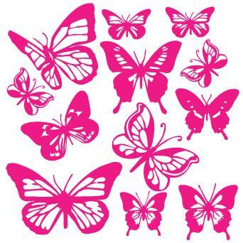 Papillons roses d couper papillons imprimer butterfly pink et kids rugs - Dessin papillon a decouper ...