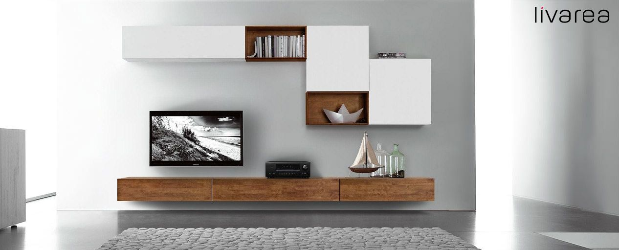 TV wall configurator for solid TV boards from 120 to 300 cm width. Moderner TV Möbel Konfigurator aus Massivholz. Erhältlich von 120-300 cm Breite und in 3 Farben.