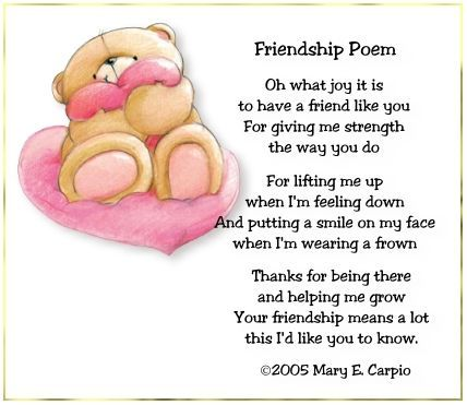 Friendship Poem | Projects to Try | Pinterest | Amizade, Inglês e ...