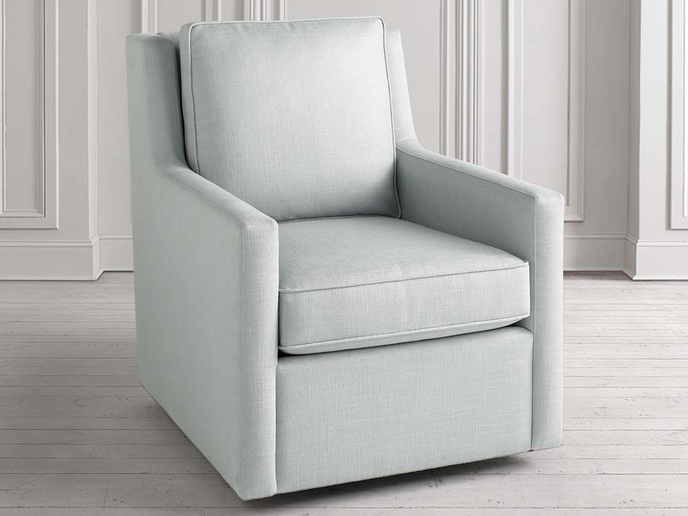 The Archer swivel chair from Bassett features