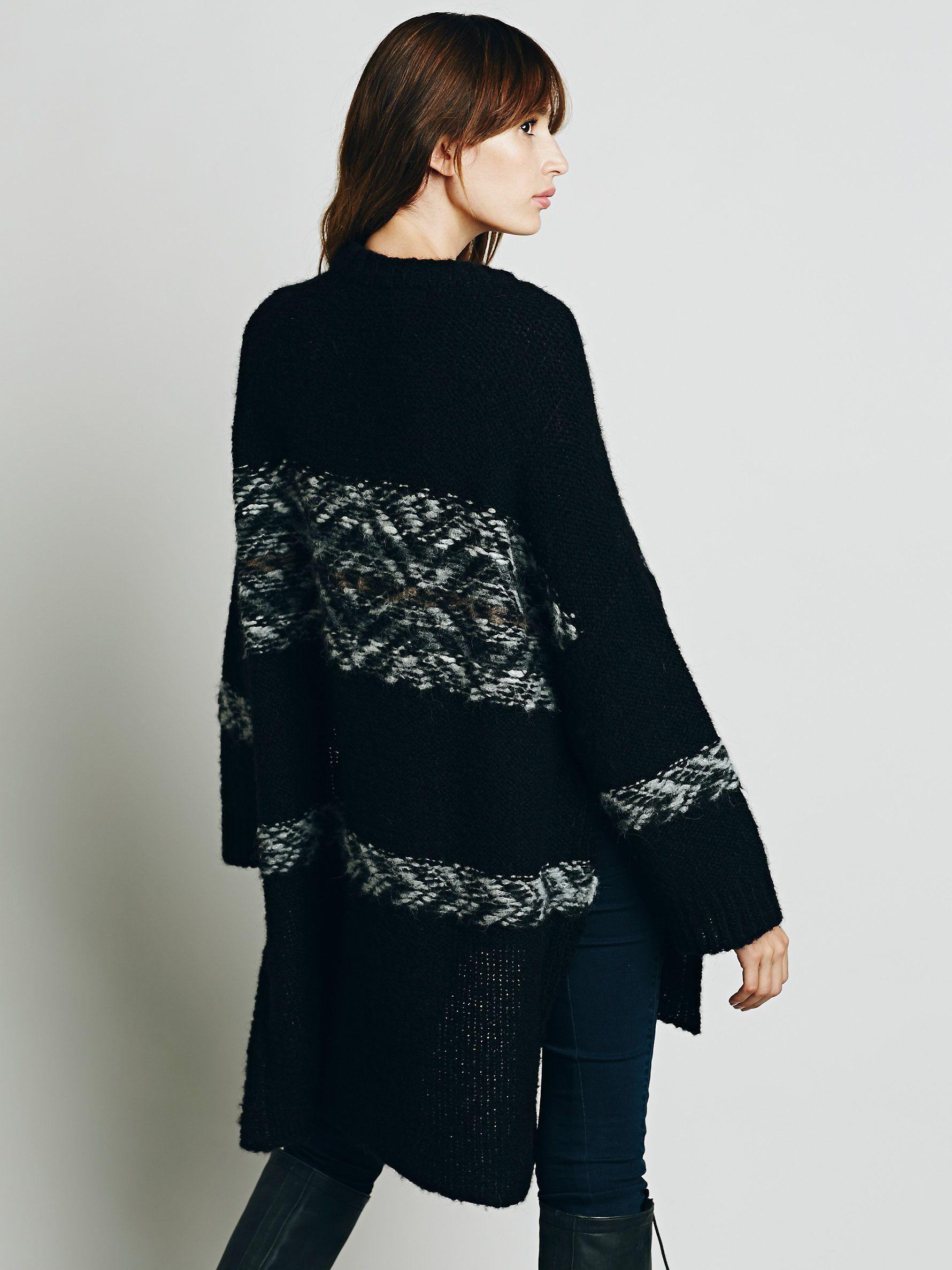 Free People Alpaca Fairisle Tunic Sweater, ₡82508.94 | Sweaters ...