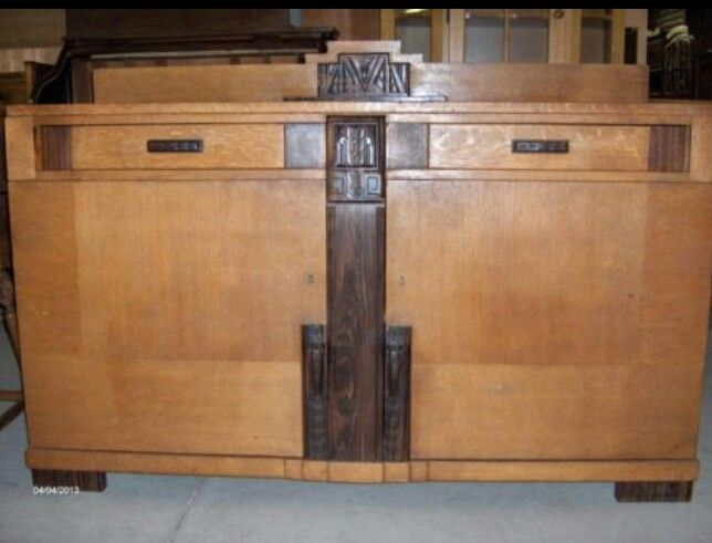Dressoir amsterdamse school pinterest amsterdam for Art deco meubilair