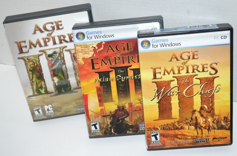 Age Of Empires Iii Lot Of 3 The Asian Dynasties War Chiefs