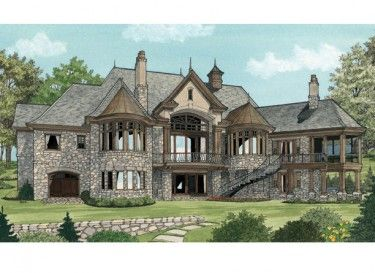 European Estate Home (HWBDO75743)   European House Plan from ...
