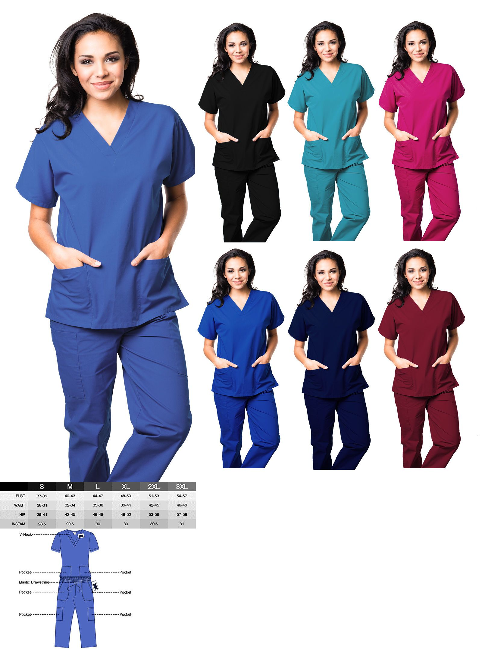 cffbe04b4c2 Sets 105432: Unisex Men Women Medical Uniform Hospital Scrubs Set Nursing  Natural Top And Pants