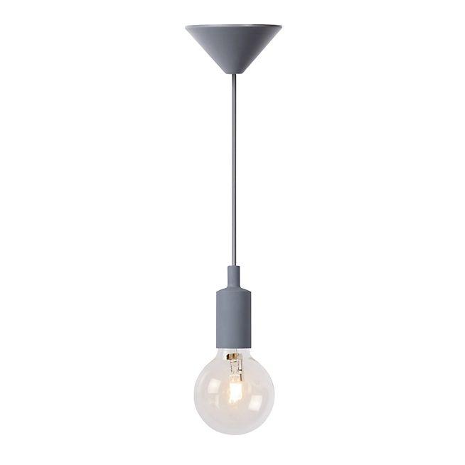 Fix Suspension 1 lumière GRIS H120cm