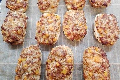 Pizza  Hackfleisch  Brötchen  Snacks