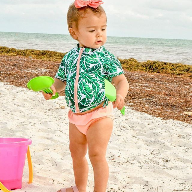 ea14dce71b The cutest summer prints for baby! Keep baby's skin protected from the sun  this summer with SwimZip swimwear! @jessica.mcelroy⠀ #swimzip #…