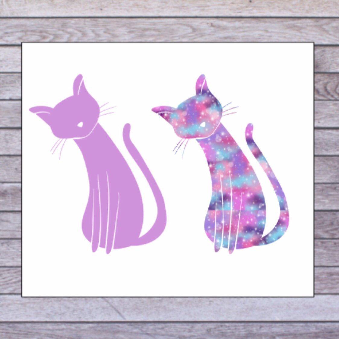 Cat Cup Decal Cat Decal For Tumbler Cat Car Decal Cat Etsy Cat Decal Cat Stickers Vinyl Decals