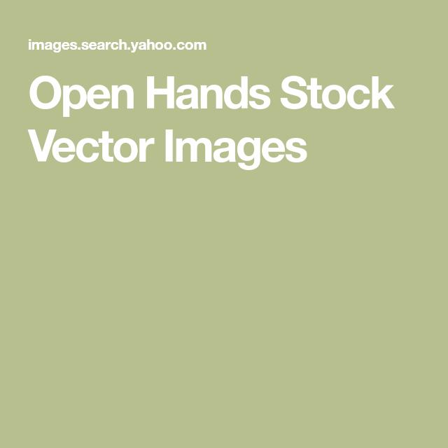 Open Hands Stock Vector Images Open Hands Vector Images Image