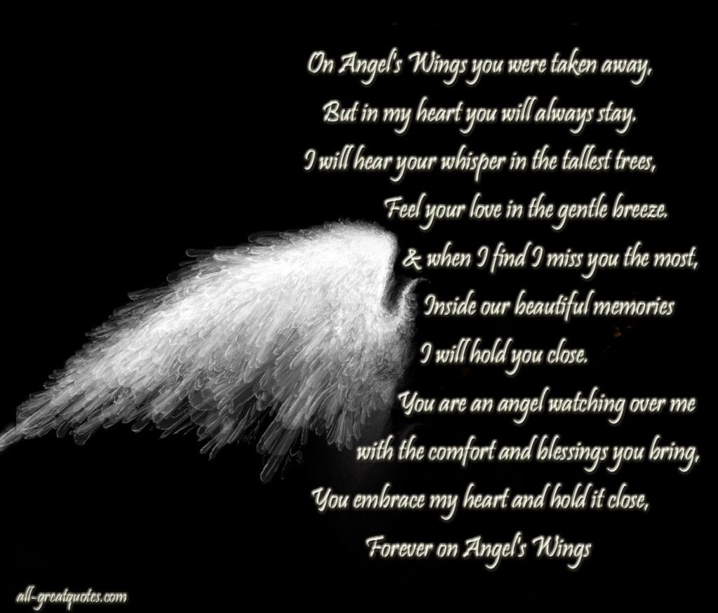 Condolences Quotes Simple On Angels Wings You Were Taken Away  In Loving Memory Cards  Fay N .