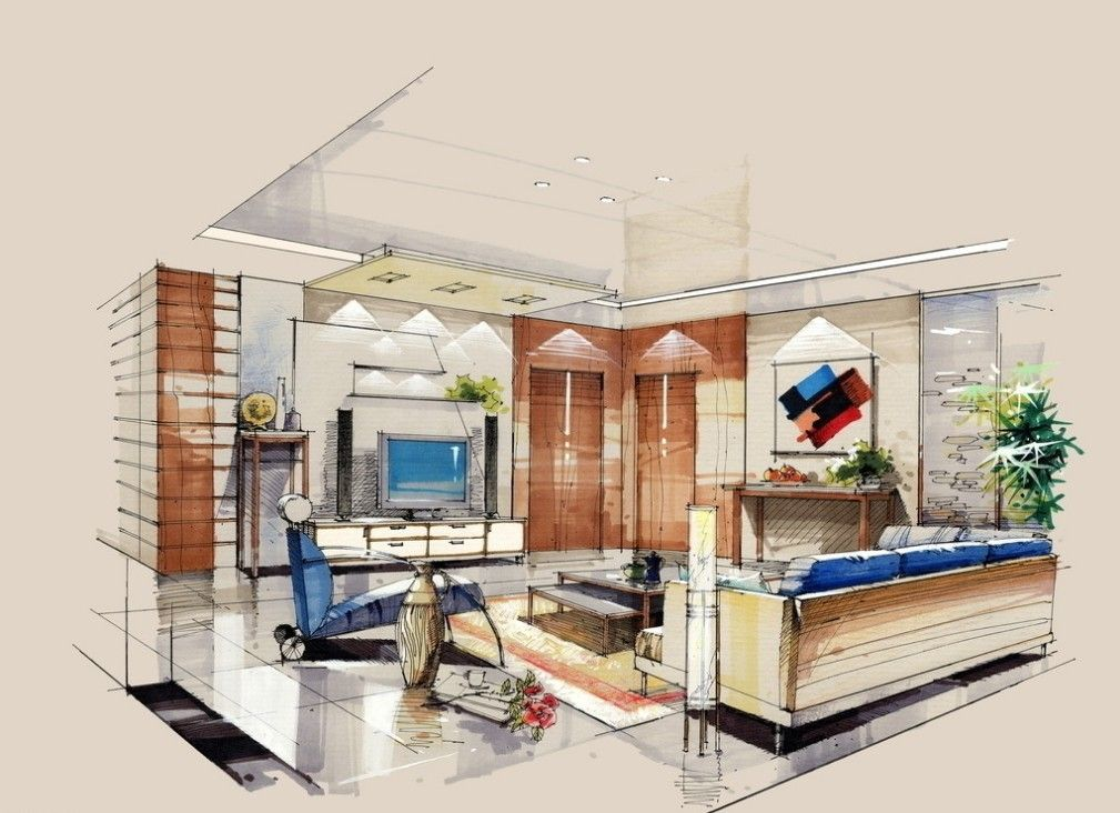 Interior Design Hand Renderings Google Search With Images