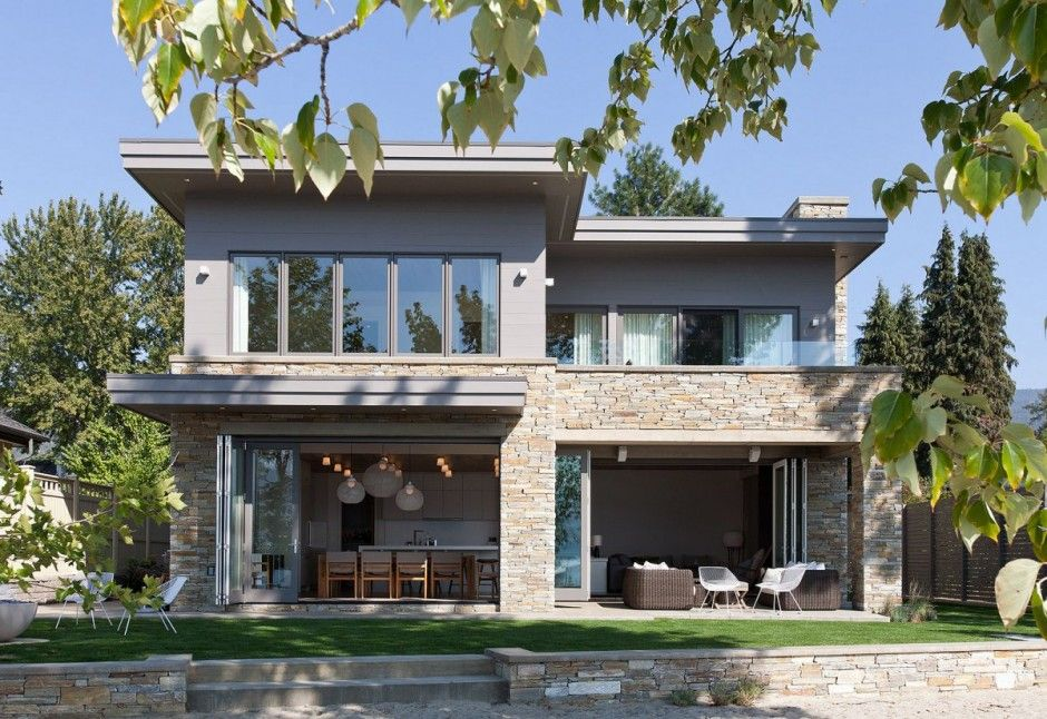 Vacation Home Designs   Lakeside Vacation Home Combines Natural Materials With Modern Living